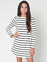 Youth Long Sleeve Sailor Stripe Dress