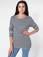 Unisex Sailor Stripe Long Sleeve Pullover