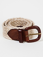 Unisex Jute and Leather Belt