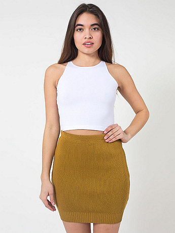 Acrylic Knit Pencil Skirt
