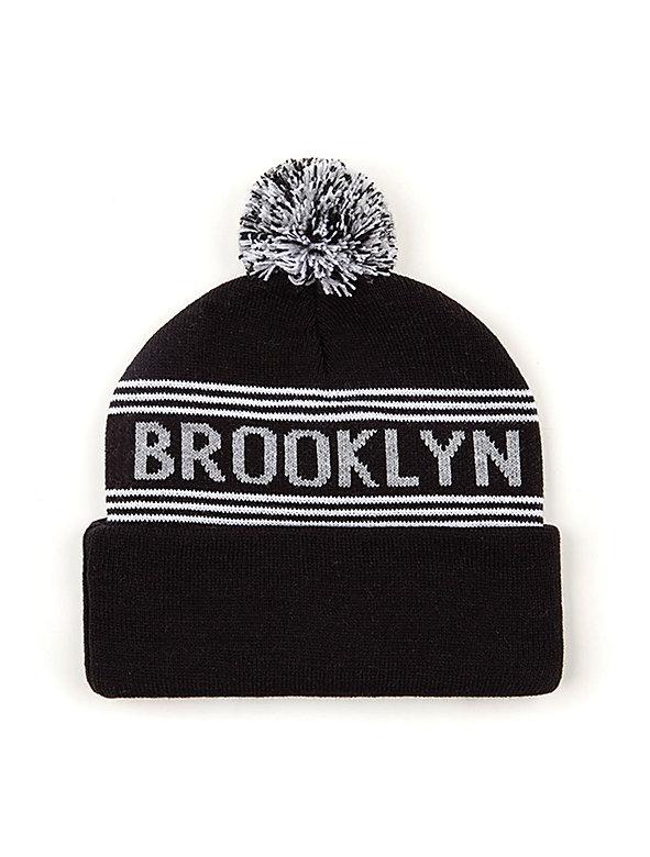 Pom Pom Brooklyn Beanie