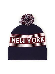 Pom Pom New York Beanie