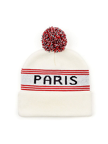 Pom Pom Paris Beanie