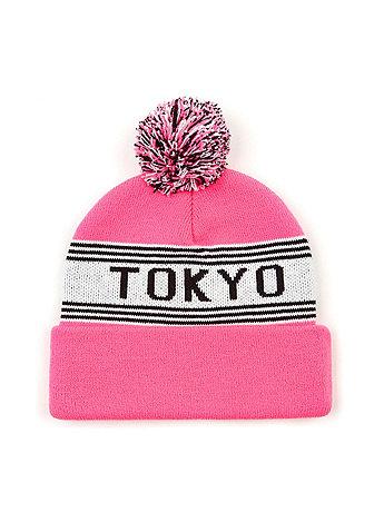 Pom Pom Tokyo Beanie