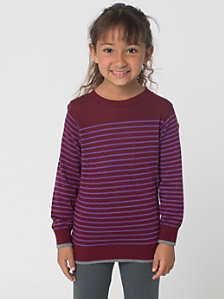 Kids' Knit Stripe Sweater Crew Neck