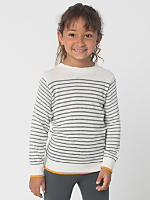 Kids Knit Stripe Sweater Crew Neck