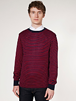 Knit Small Stripe Sweater Crew Neck