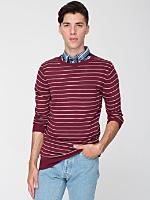 Knit Thin Stripe Sweater Crew Neck