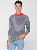 Knit Thin Stripe Sweater Crew Neck