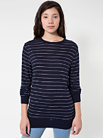 Unisex Knit Thin Stripe Sweater Crew Neck
