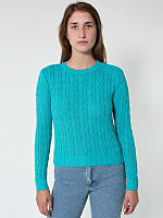 Recycled Women's Cable Knit Pullover