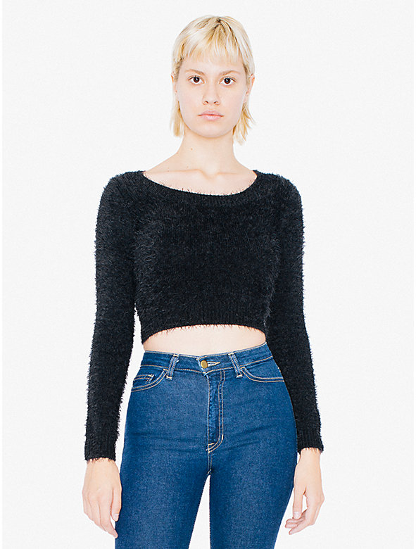 Fuzzy Cropped Sweater