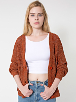 Metallic Cropped Cardigan