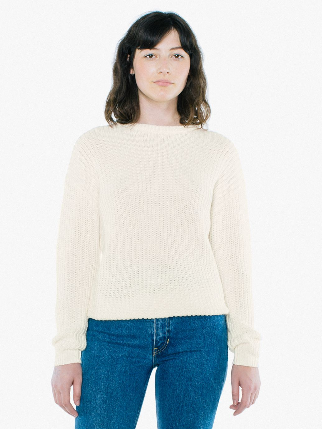 Unisex Fisherman Pullover American Apparel Basic Pull Over Sweater Product Gallery Element