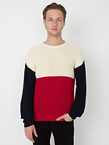 Color Block Fisherman's Pullover