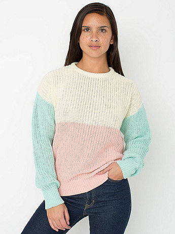Unisex Color Block Fisherman's Pullover