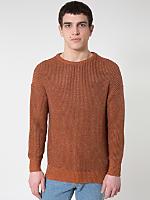 Metallic Fisherman's Pullover