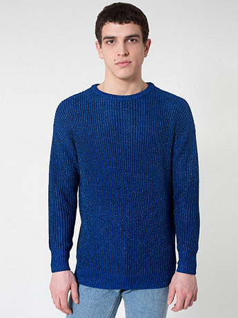 Metallic Fisherman's Pullover