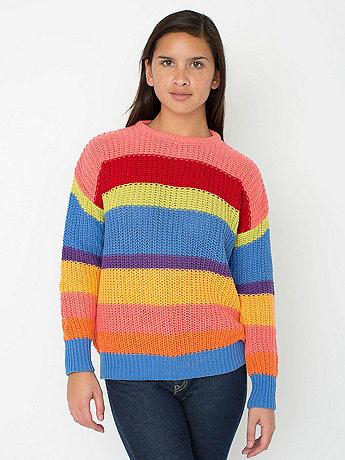 Unisex Stripe Fisherman's Pullover