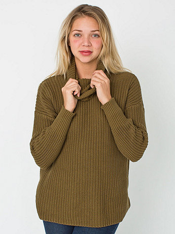 Unisex Oversized Cotton Fisherman Turtleneck