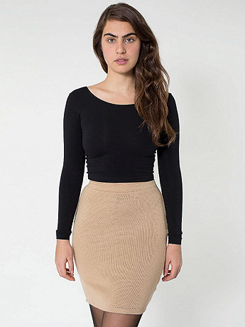 Sweater Knit Pencil Skirt