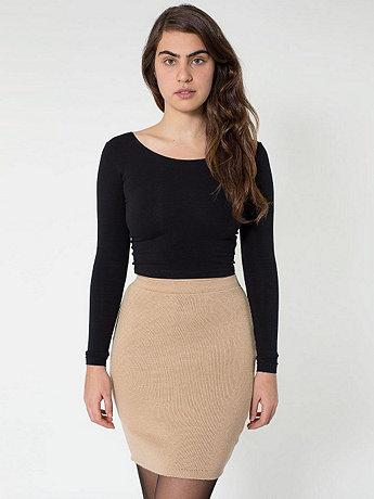 Sweater Knit Pencil Skirt