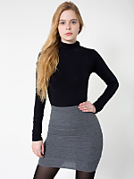 Zig-Zag Sweater Knit Pencil Skirt