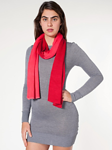 Unisex Acrylic Two-Color Scarf