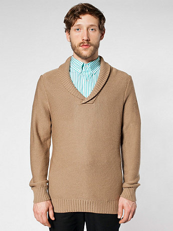 Wool Shawl Collar Pullover