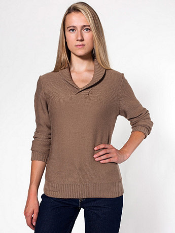 Unisex Wool Shawl Collar Pullover