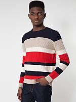 Stripe Seed Stitch Pullover