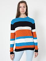 Unisex Stripe Seed Stitch Pullover