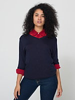 Unisex Knit Sweater V-Neck