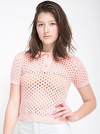 Open Knit Tennis Shirt
