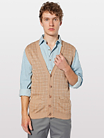 Knit Long Grid Vest