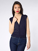 Knit Cropped Dot Vest