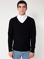 Wool Cable Knit Pullover
