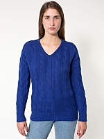 Unisex Wool Cable Knit Pullover