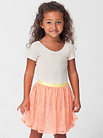 Kids Lace Mid-Length Skirt