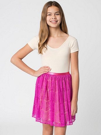 Youth Lace Mid-Length Skirt