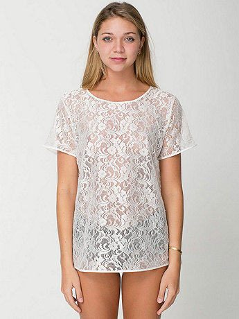 Leaf Flower Lace Tee