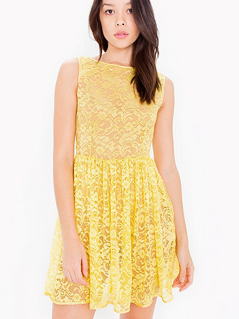Leaf Flower Lace Sleeveless Dress