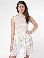Leaf Flower Lace Sleeveless Dress