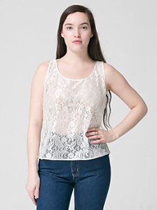 Leaf Flower Lace Loose Tank