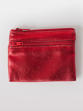 Shiny Denim Coin Purse