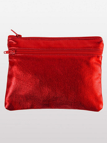 Shiny Denim Make-Up Bag