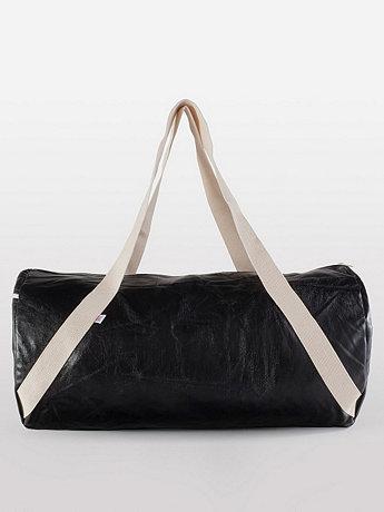Shiny Denim Diagonal Strap Gym Bag