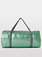 Stripe Shiny Denim Duffle Bag