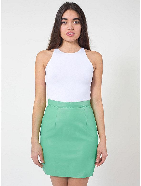 The Leather Mini Skirt