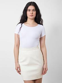 Printed Leather Mini Skirt